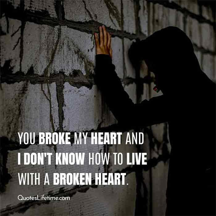 Broke my heart messages u 75 Heart
